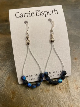 Carrie Elspeth - Blue/Black Twist Earrings
