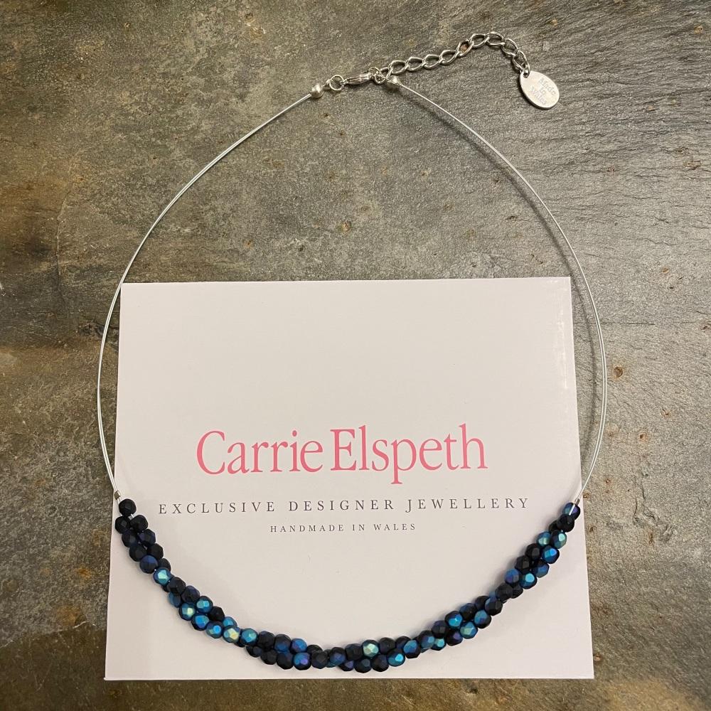 Carrie Elspeth - Blue/Black Twist Necklace