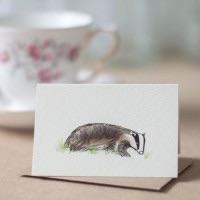 Penny Lindop Mini Card - Badger