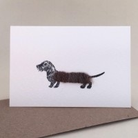 Penny Lindop Mini Card - Wire Haired Dachshund
