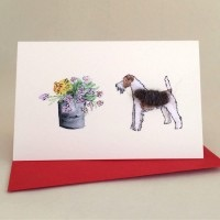 Penny Lindop Mini Card - Fox Terrier
