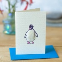 Penny Lindop Mini Card - Macaroni Penguin