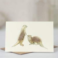 Penny Lindop Mini Card - Otters