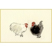 Penny Lindop Mini Card - Pekin Bantams