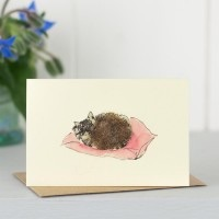 Penny Lindop Mini Card - Sleeping Cat