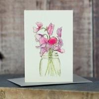 Penny Lindop Mini Card - Sweet Peas