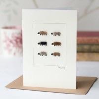 Penny Lindop - Large Card (Natural Sheep)