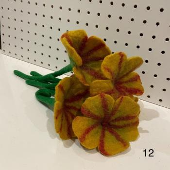 Funky Yak - Felt Flower 12