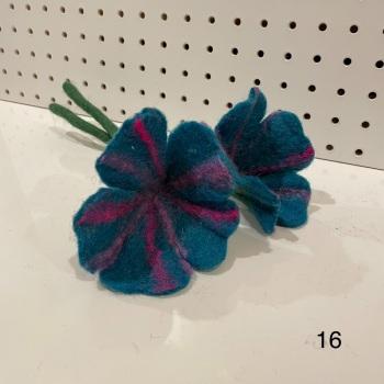 Funky Yak - Felt Flower 16