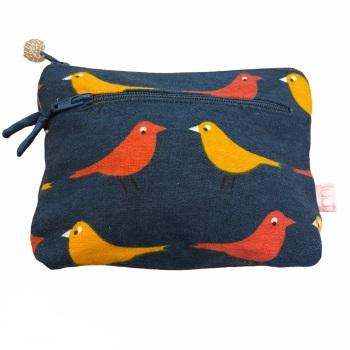 Lua 2 zip  Purse - Blue Birds