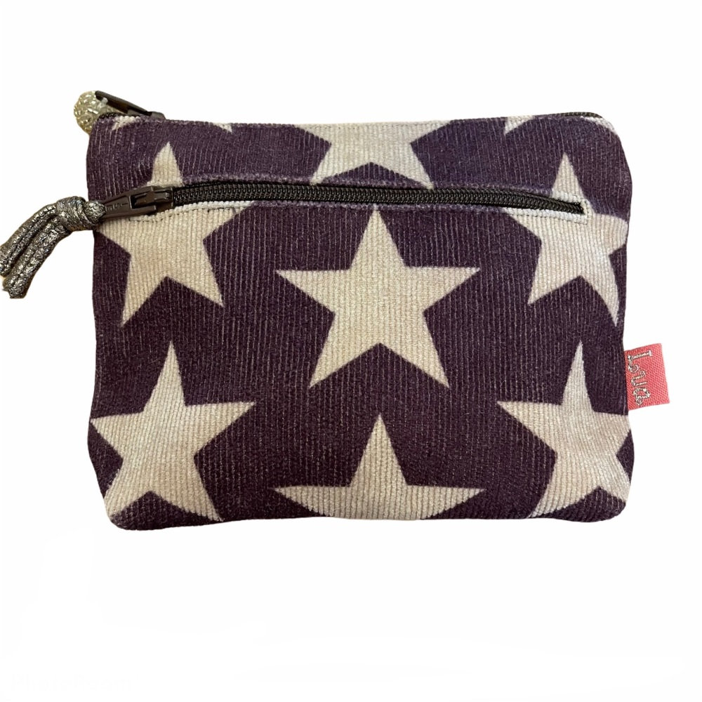 Lua 2 zip  Purse - Plum Stars