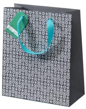 Cinnamon Aitch Medium Gift Bag - Grey Mosaic