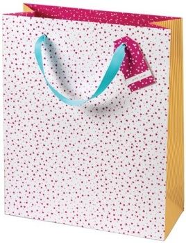 Cinnamon Aitch Large Gift Bag - Ditsy Hearts