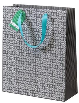 Cinnamon Aitch Large Gift Bag - Grey Mosaic