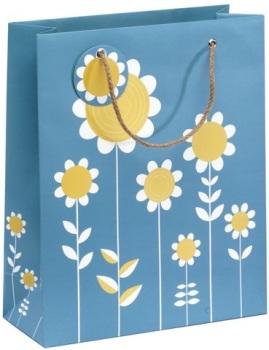 Cinnamon Aitch Large Gift Bag - Cornflower Daisies