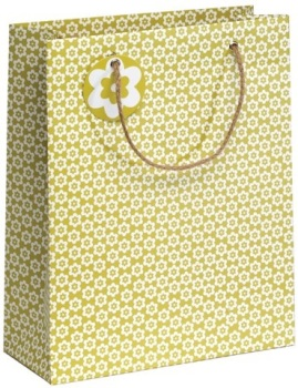 Cinnamon Aitch Large Gift Bag - Green Ditsy