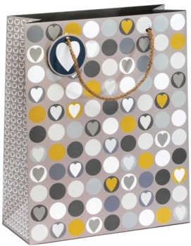 Cinnamon Aitch Large Gift Bag - Hearts