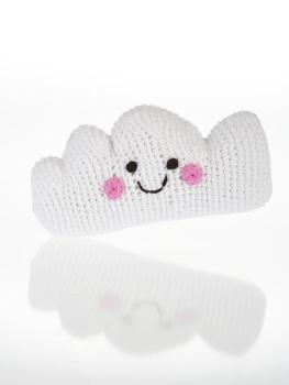 Best Years Pebble Crochet Rattle - Happy Cloud