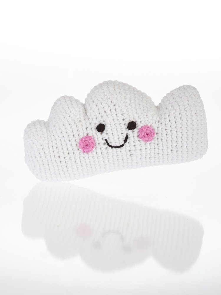 Best Years Pebble Crochet Rattle - Happy Cloud
