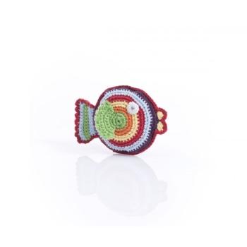 Best Years Pebble Crochet Rattle - Rainbow Fish