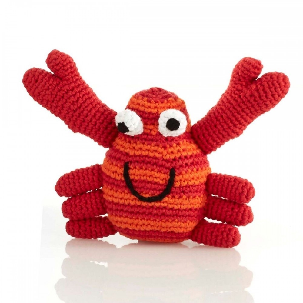 Best Years Pebble Crochet Rattle - Crab