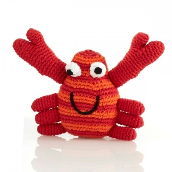 Best Years Pebble Crochet Rattle - Crab (Red)