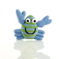 Best Years Pebble Crochet Rattle - Crab (Blue)
