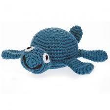 Best Years Pebble Crochet Rattle - Turtle (Blue)
