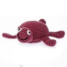 Best Years Pebble Crochet Rattle - Turtle (Soft Purple)