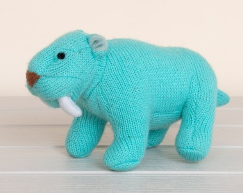 Best Years Knitted Rattle - Sabre Tooth Tiger