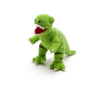 Best Years Knitted Dinosaur - Green T Rex