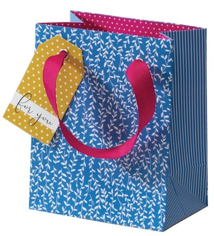 Cinnamon Aitch Small Gift Bag - Blue Willow