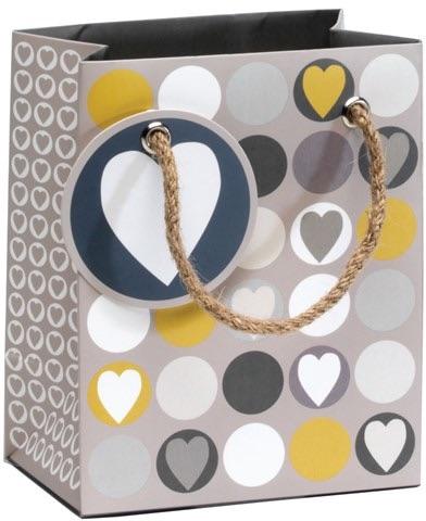 Cinnamon Aitch Tiny Gift Bag - Hearts