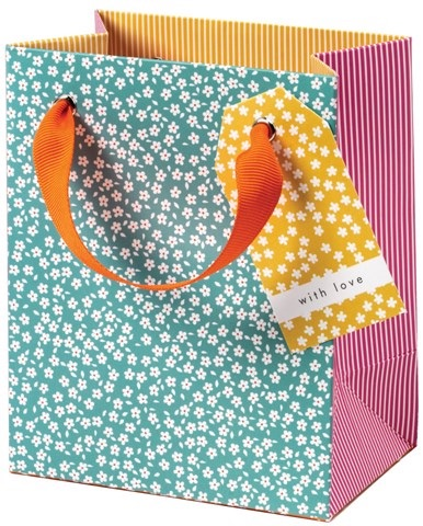 Cinnamon Aitch Small Gift Bag - Ditsy Flowers
