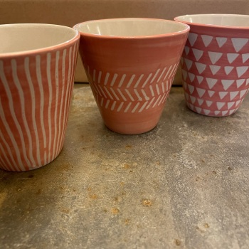 Sass and Bell - Set of 3 Pink Planters