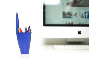 J-me Bic Pen Pot - Blue
