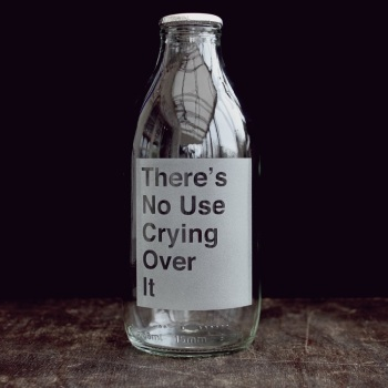 Vinegar & Brown Paper Milk Bottle - No use crying over it...