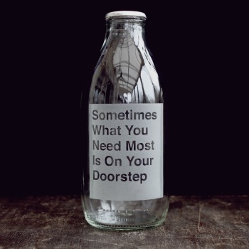 Vinegar & Brown Paper Milk Bottle - Sometimes what you need most...