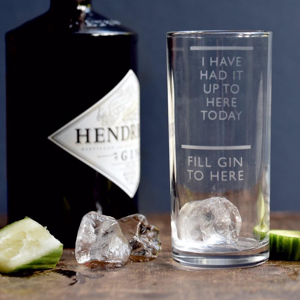Vinegar & Brown Paper Gin Glass -