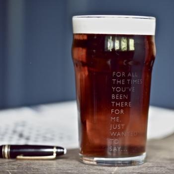 Vinegar & Brown Paper Beer Glass - Cheers Dad