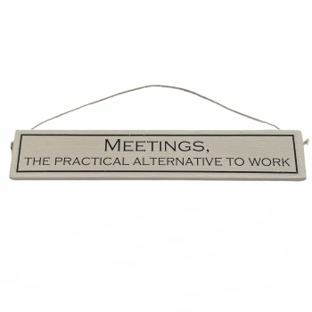 Wit with Wisdom - Meetings, the practical alternative to work