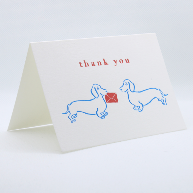 Archivist (Small Card) - Thank you dachshunds