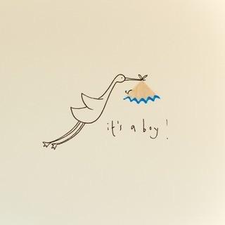 Ruth Jackson - Baby boy stork