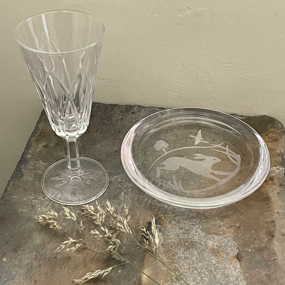 Four Hands Glass Coaster/Dish - Hare
