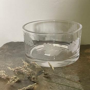 Four Hands Glass Coaster/Dish - Oak