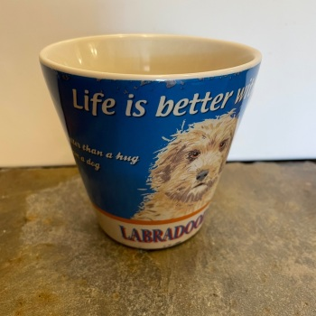ECP Conical mug - Life is better with a dog