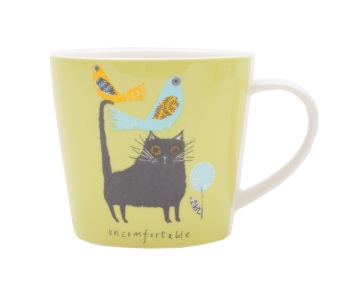 ECP Jane Ormes Mug - Uncomfortable Cat
