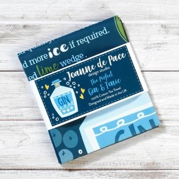 Joanna de Pace Tea Towel - The Perfect Gin and Tonic Recipe