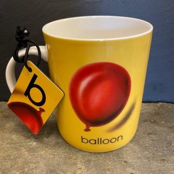 Designed in Colour (Ladybird) Alphabet Mug - B is for Balloon