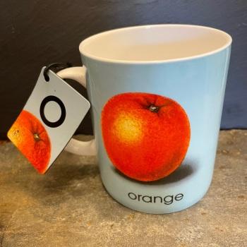 Designed in Colour (Ladybird) Alphabet Mug - O is for Orange